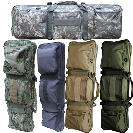 "- EZshoot 85CM Tactical Military Rifle Gun Carrying Case Bag 34"" Dual Padded Slip Carry Bag"