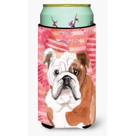 English Bulldog Love Tall Boy Beverage Insulator Hugger - Bulldogs Beverage
