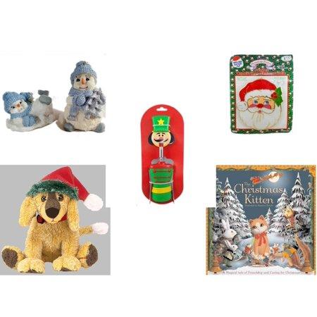 eaa10a48686 Christmas Fun Gift Bundle  5 Piece  - 1998 Encore Group Snowman Ornaments  Set -