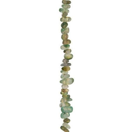 Semi Precious Stone Bead Strand - Moss Agate - - Moss Agate Tube