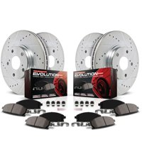 Power Stop Front and Rear Ceramic Brake Pad and Drilled and Slotted Rotor Kit K6075