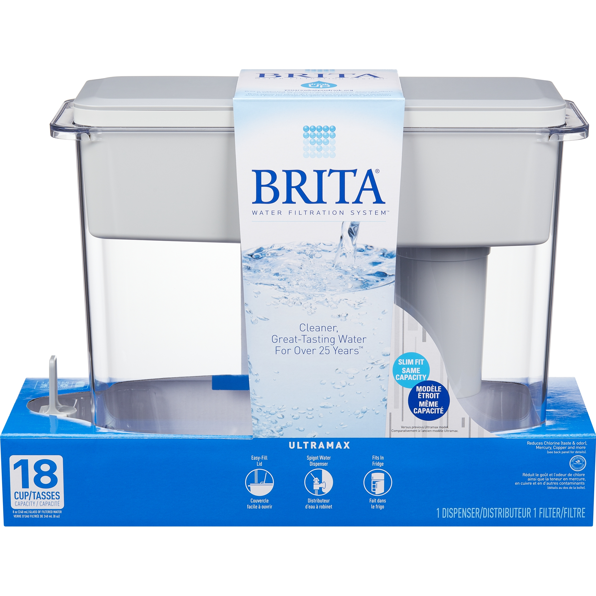 How To Filter Water At Home Brita 18 Cup Ultramax Water Dispenser With 1 Filter Bpa Free