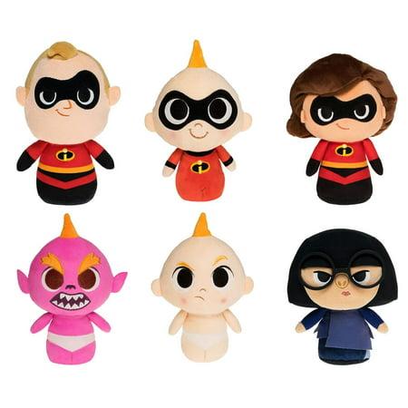Funko SuperCute Plushies - The Incredibles 2 - SET OF 6 (3 Jack-Jacks, Edna and Mr. & Mrs.)