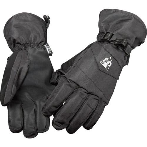 Rocky 2-in-1 Guantlet Ski Gloves, Black
