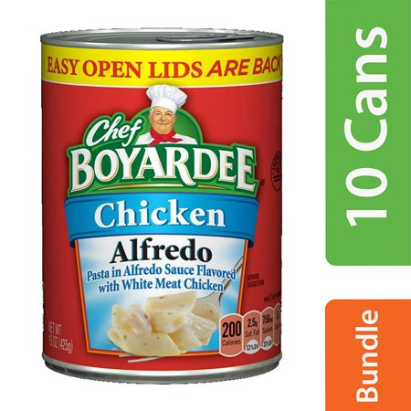 Chicken Pasta Tomatoes - (10 Pack) Chef Boyardee Chicken Alfredo Pasta, 15 oz