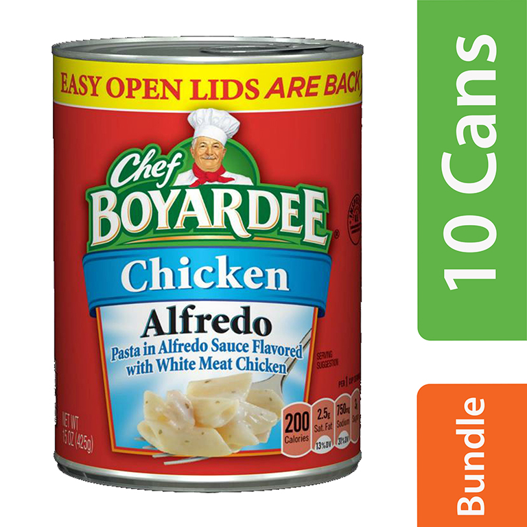 (10 Pack) Chef Boyardee Chicken Alfredo Pasta, 15 oz