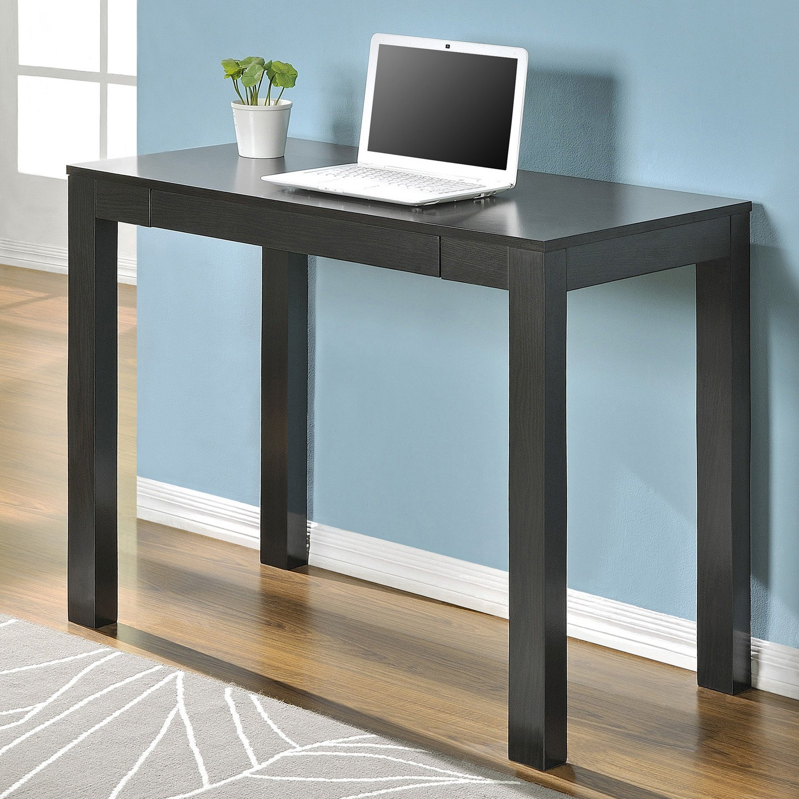 Parsons Table Desk With Drawers: Ameriwood Parsons Desk With Drawer, Espresso Finish