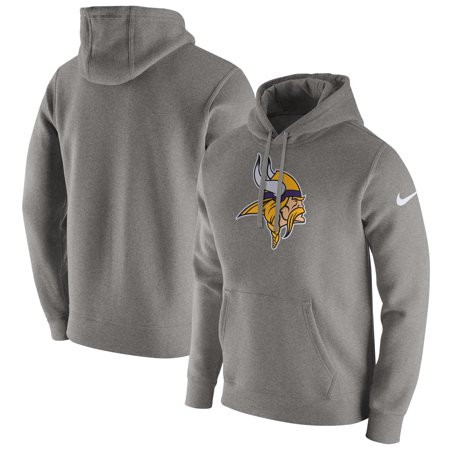 Minnesota Vikings Nike Club Fleece Pullover Hoodie - Heathered Gray