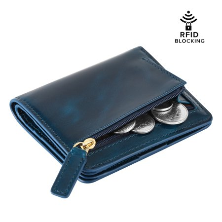 Kattee RFID Blocking Leather Bifold Small Wallet for -
