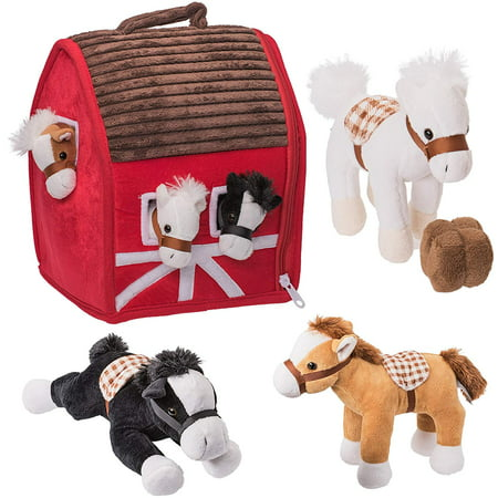 Stick Horse Toy (Prextex Plush Farm House with Soft and Cuddly 5