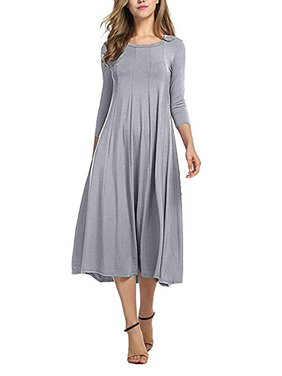 f8ff3509 Product Image Women Dress Clearance Casual Half Sleeve Loose Ladies Evening  Long Maxi Dress