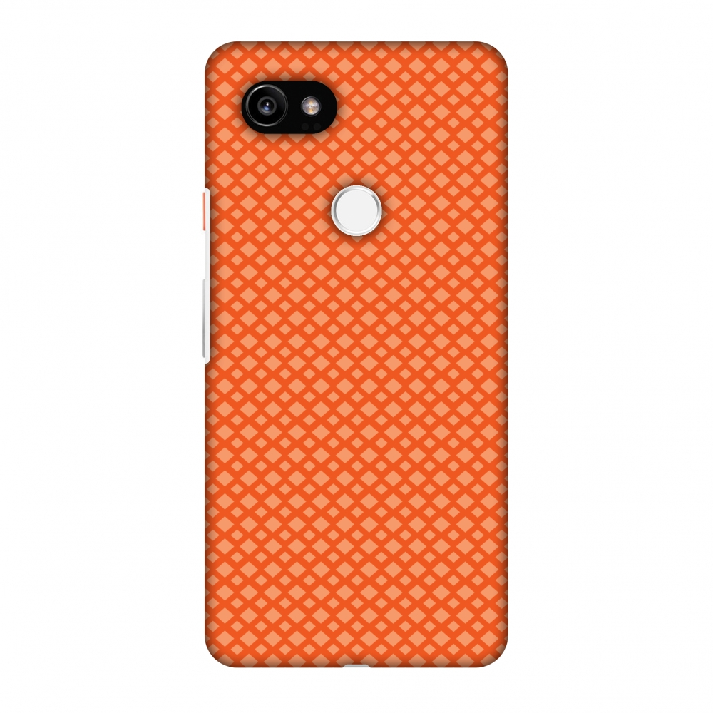 Google Pixel 2 XL Case, Premium Handcrafted Designer Hard Shell Snap On Case Printed Back Cover with Screen Cleaning Kit for Google Pixel 2 XL, Slim, Protective - Carbon Fibre Redux Tangy Orange 7