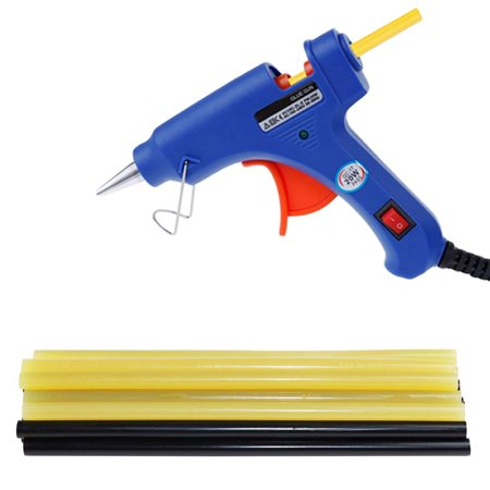 Hot Glue Gun with 20pcs Melting Glue Sticks Glue Gun Kit for DIY Small Craft Projects&Sealing and Christmas Decoration/Gifts (Hot Melt Glue Gun)
