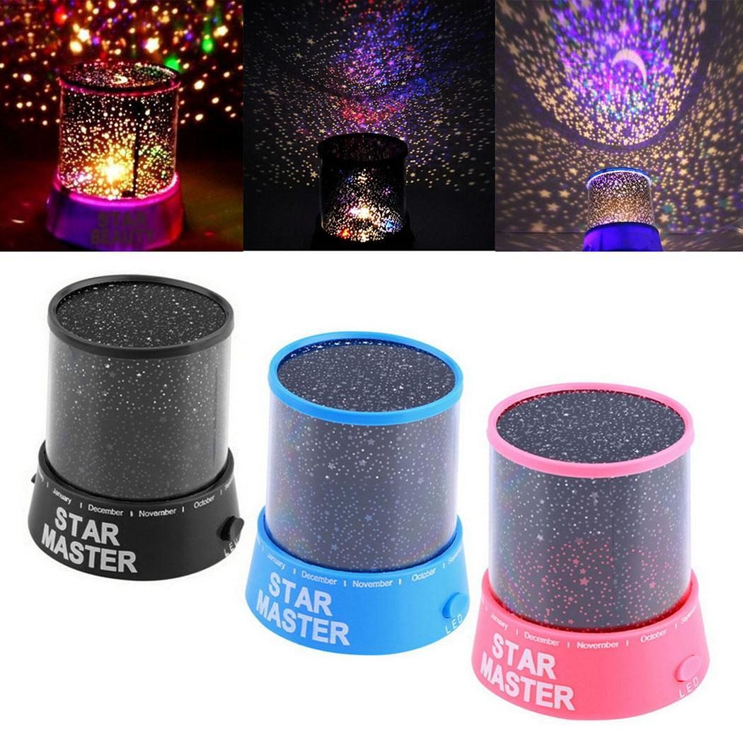 LED Night Light Star Baby Kids Sleep USB Projector Rotation Colorful Light Lamp DEAML
