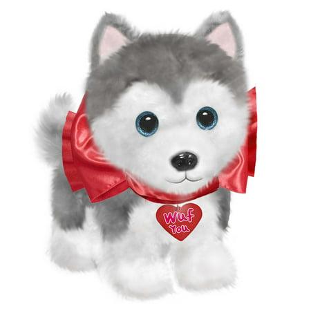 Dog 7 Plush Valentine S Day Wuffles Husky Walmart Com