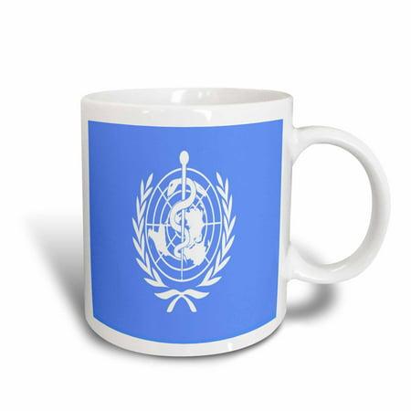 3dRose World Health Organization Flag, Ceramic Mug,