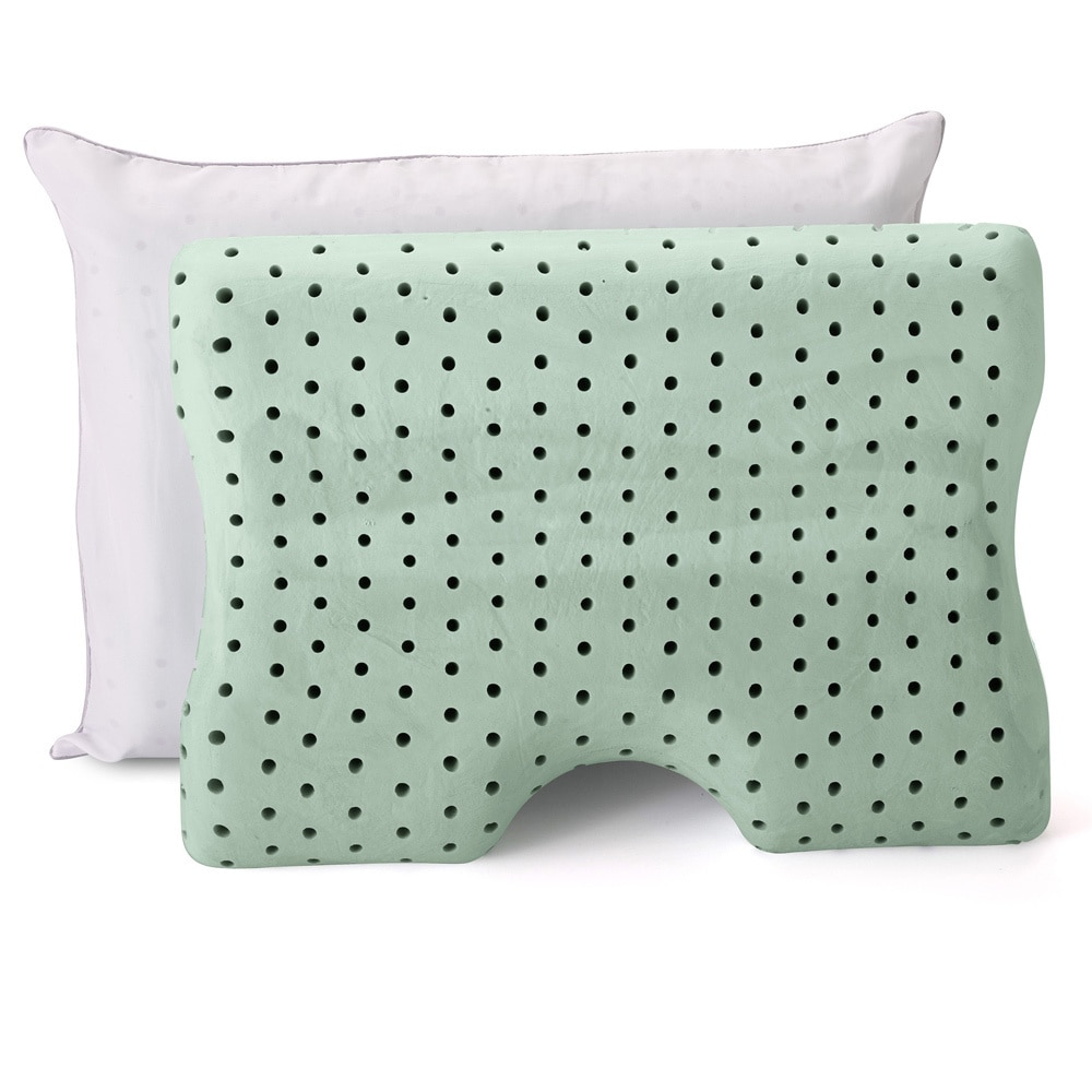 Authentic Comfort  Dual Comfort Memory Foam Pillow with Cover