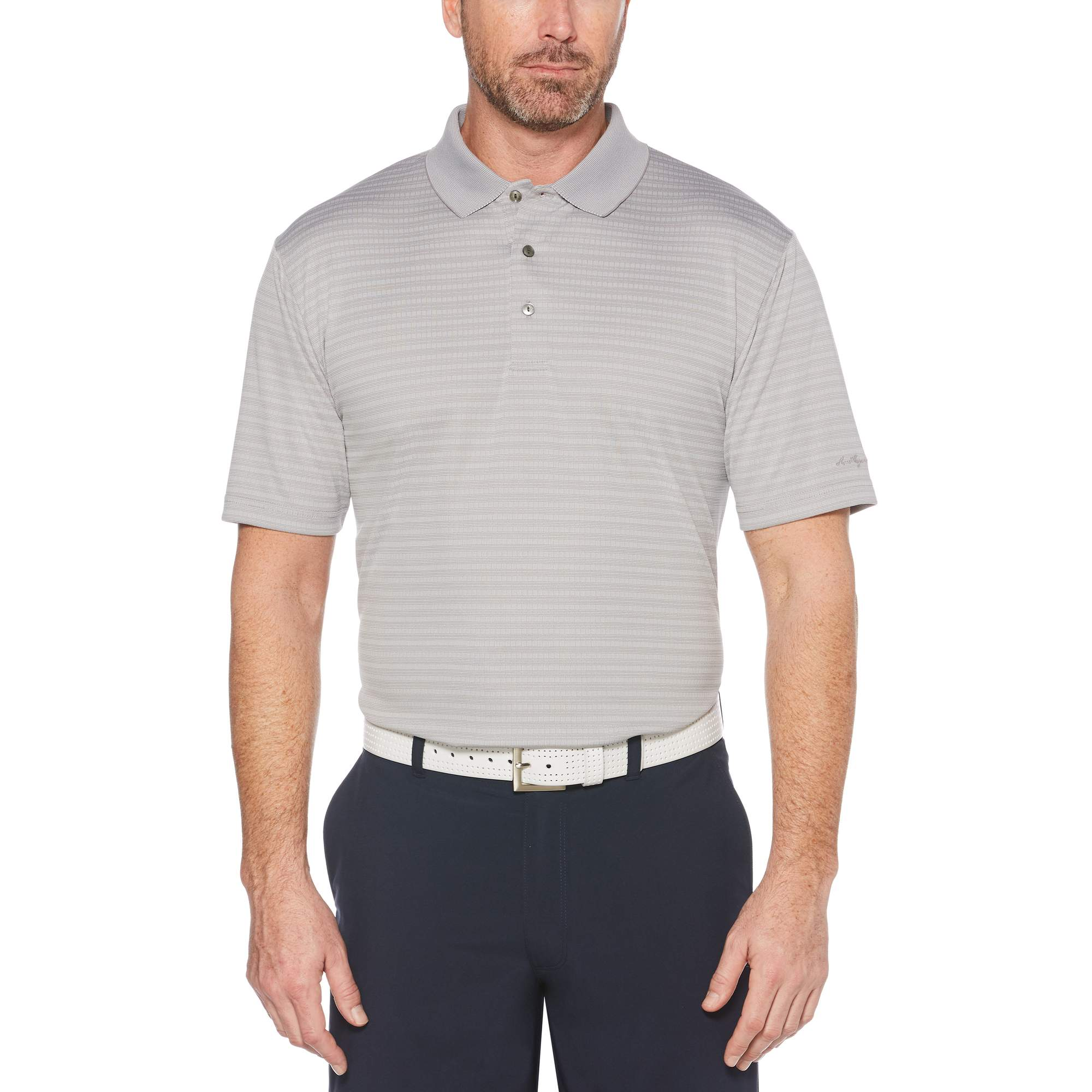 Men's Performance Short Sleeve Jacquard Golf Polo