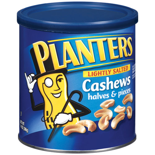 Planters Lightly Salted Cashew Halves & Pieces, 14 oz