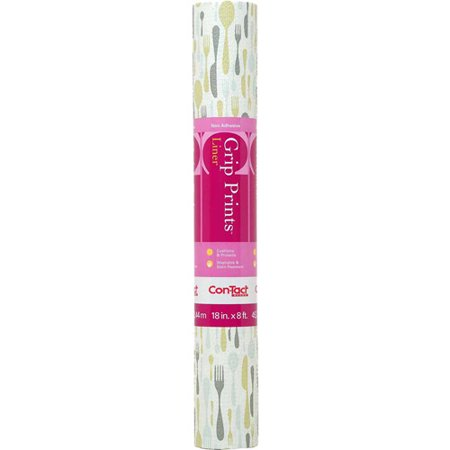 Con-Tact Brand Grip Prints Non-Adhesive Shelf Liner, Lunchbox, 18