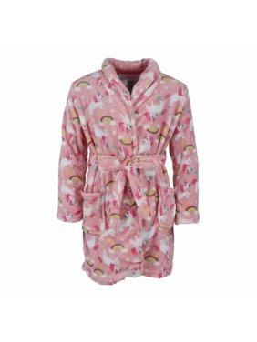 Rene Rofe Girl's Ultra Fleece Novelty Print Robe