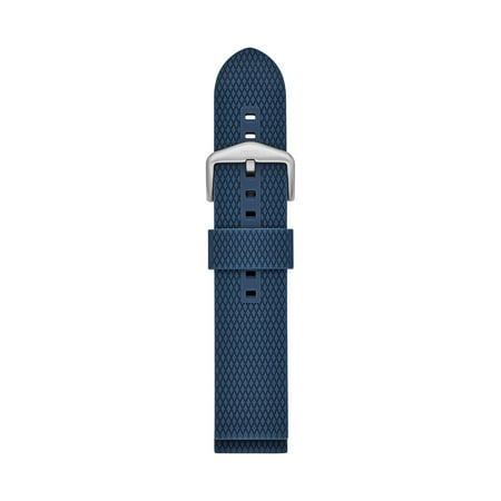 Fossil Men's 22mm Blue Silicone Watch Strap