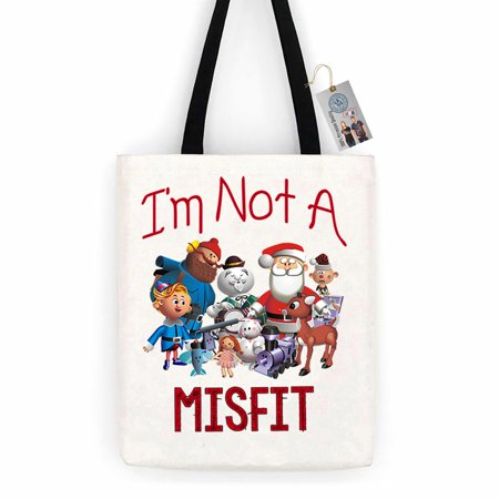 I'm Not A Misfit Toys Christmas Cotton Canvas Tote Bag Carry All Day Bag