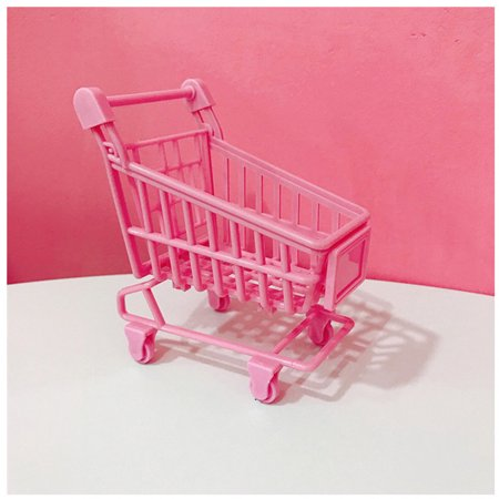 Shopping Cart with Sturdy Metal Frame Play Sets & Kitchens Heavy-Gauge Steel Toy Shopping Cart with Sturdy Metal Frame Play Sets & Kitchens Heavy-Gauge Steel ConstructionFEATURES  SMOOTH-ROLLING MINI SHOPPING CART: This mini shopping cart features front, spring-loaded safety wheels that pivot 360 degrees, which permits it to roll easily on multiple surfaces, inside or outside the home.  MADE TO LAST: Shopping Cart with Sturdy Metal Frame is made from heavy-gauge steel construction that makes it look and feel just like the real thing.  HANDY FEATURES FOR KIDS: Our shopping cart includes multiple kid-friendly features such as easy-grip handles that let kids push the cart from aisle to aisle, and a fold-open seat for a doll or stuffed animal passenger to go on pretend shopping trips.  GREAT GIFT FOR AGES 3-6: The Toy Shopping Cart with Sturdy Metal Frame makes a great gift for kids ages 3 and up. pretend shopping experience. size:Pink plastic shopping cart:9.5x6x12cm,Metal stainless steel shopping cart:11x7.8x12.5cm   Size For Manual Measurement, there may be a 1 to 3 cm error, belongs to the normal phenomenon.And due to the difference between different monitors, the picture may not reflect the actual color of the item. Thank you! PACKAGE INCLUDE: 1 toy