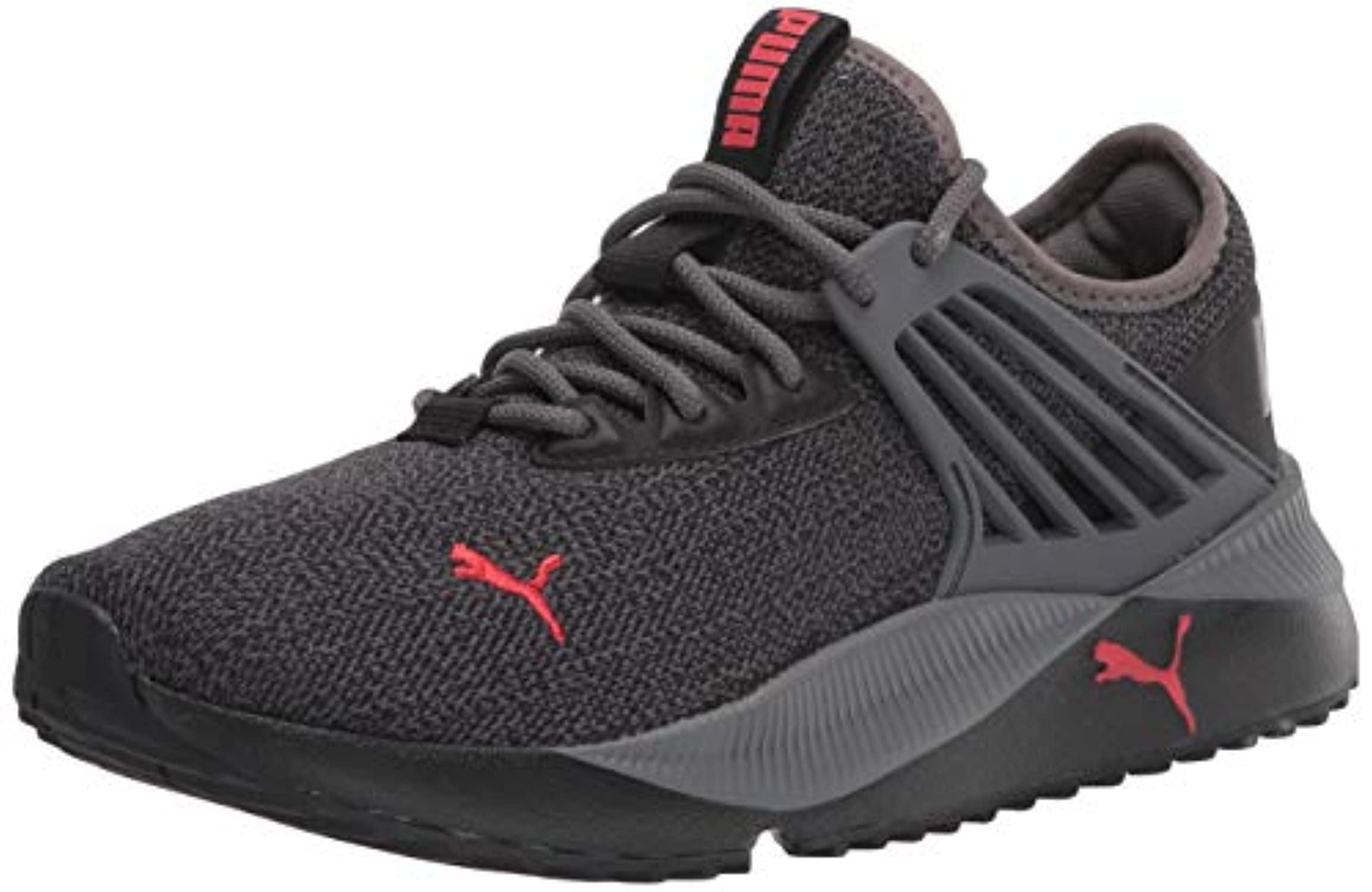 PUMA - PUMA mens Pacer Future Sneaker, Castlerock-puma Black-high Risk Red, 12 US - Walmart.com