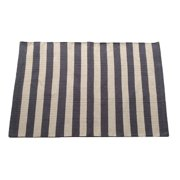 Artim Home Textile Narrow Charcoal/Beige Stripe Area Rug