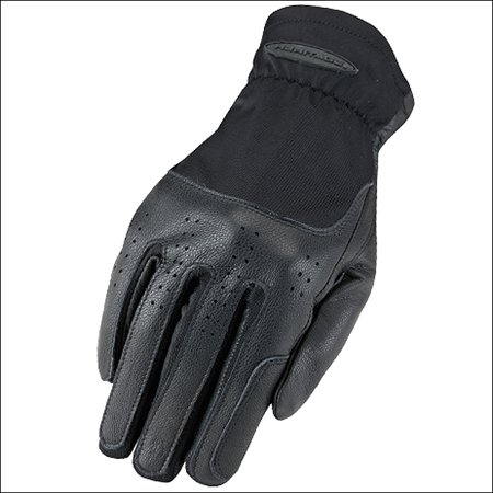 3 SIZE HERITAGE KIDS LEATHER CLASSIC SHOW STRETCH FLEXIBLE NYLON GLOVES BLACK for $<!---->