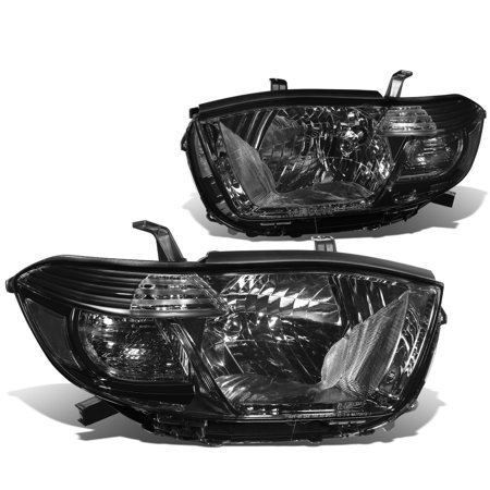 For 08-10 Toyota Highlander XU40 Pair of Smoked Lens Clear Corner Headlight (Clear Lens Cornering Light)