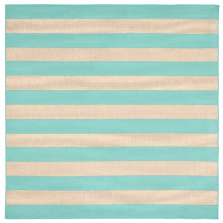 liora manne terrace 1789 93 rugby turquoise area rug 7 feet 10 inches sq. Black Bedroom Furniture Sets. Home Design Ideas