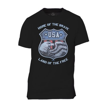 Land of the Brave Mens Short-Sleeve T-Shirt - Royal - 2X-Large - image 1 of 1