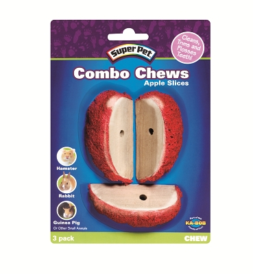 CENTRAL - SUPER PET/PETs INTL SUPER PET COMBO CHEW APPLE SLICES 3 PACK