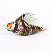 "Badash Art Glass Conch Shell, 10""X5"""