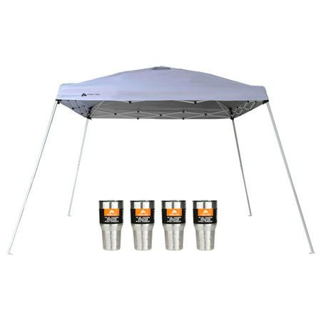 Ozark Trail 12x12 Slant Leg Canopy with 4 Tumblers Value Bundle Only $39.16