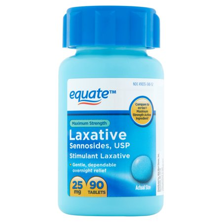 equate Force maximale pilules laxatives, 25mg, 90 count