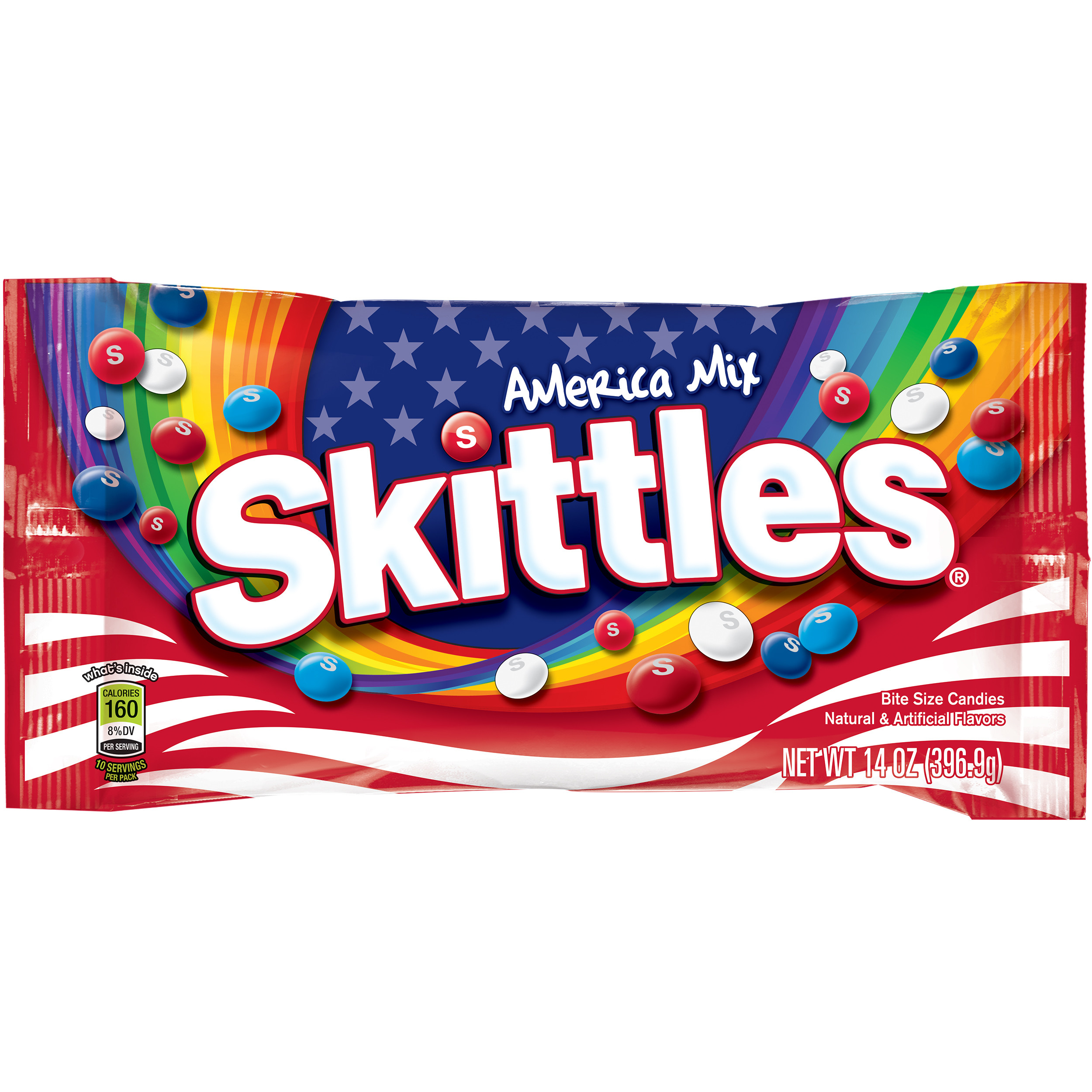 Skittles America Mix Candy Bag, 14 ounce