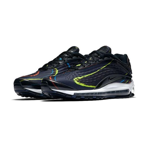 Mens Nike Air Max 99 Deluxe Black White AJ7831-001