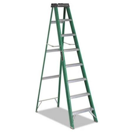 Davidson Ladders Fiberglass Step Ladder - 225 Lb Load Capacity - Green (fs4008_35)