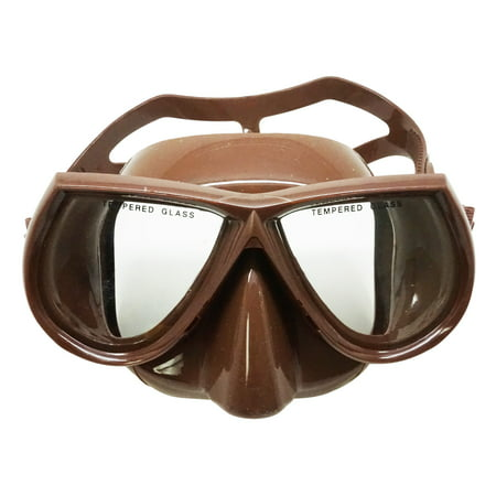 Palantic Brown Dive Mask Nearsighted Prescription RX Optical Lenses, -