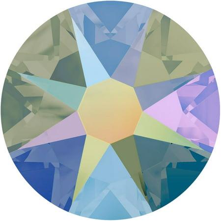 Swarovski Crystal, Round Flatback Rhinestone SS30 6.5mm, 25 Pieces, Crystal Paradise Shine Foiled