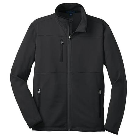 Port Authority Men's Zipper Pique Fleece Drawcord Jacket - Graphite Denali Fleece