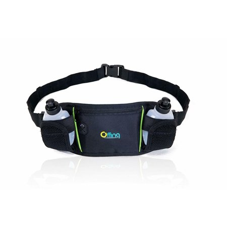 Offing Hydration Waist Running Belt with Two Water Bottles And Zippered
