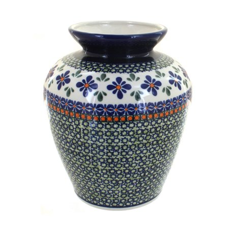 Polish Pottery Mosaic Flower Medium Vase ()
