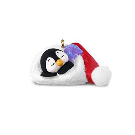 Hallmark Miniature Petite Penguins #2 Santa Hat Keepsake Christmas Ornament