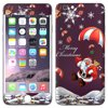 Skin Decal for Apple iPhone 6 Plus - Merry Christmas Santa Claus on Parachute