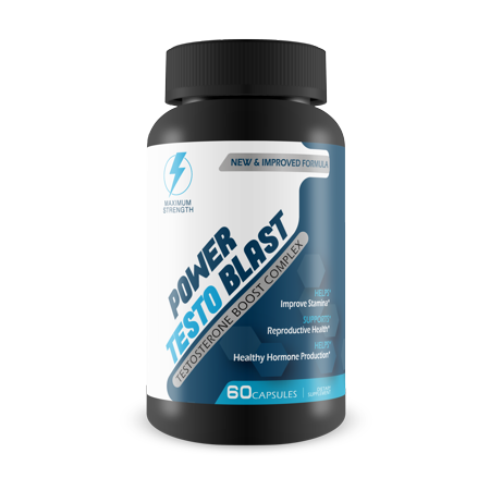 Power Testo Blast - Testosterone Boost Complex - Reproductive Health - Assists Heathy Hormone Production Anabolic Complex Boost Testosterone