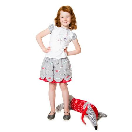 Deux par Deux Girls' T-shirt with Print Doxie Love, Sizes 18M-6 - 5 - image 1 of 2